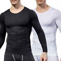 Fajas Reductoras Colombianas Para Hombre Men T-Shirt Shaper w Sleeve Arm Brazos