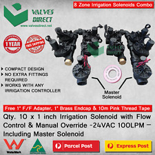 Qty. 10 x 1 inch(25mm)Irrigation Solenoid 24V AC 100 LPM-Flow Control & Override