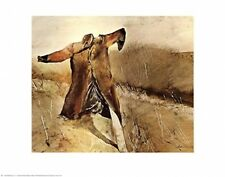 AMERICANA ART PRINT - Benny's Scarecrow by Andrew Wyeth 22x28 Poster - LAST ONES