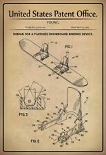 US Patent Snowboard Binding Binding 1995 Tin Sign Shield Tin Sign 20 x 30 CM