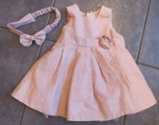 b3f4f93b4b0 GIRLS BEAUTIFUL Party/ Occasion DRESS WITH HEADBAND Age 3-6  MONTHS.EXCELLENT.