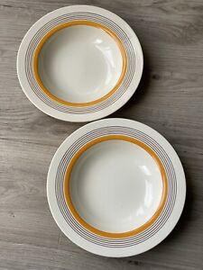 2 x Vintage Royal Doulton 'Marquis' Large China  Soup Bowls 24cms