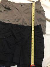 Lot 2 Stretch Talbots Ladies Shorts Sz  8 Black Olive(?) Aa60L89