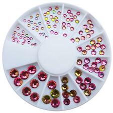 Strassstein Rondell Mix Rosa Pink AB Kistallglas Nageldesign Perlen #00791