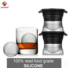 Sphere Mold Ice ball Maker – Set of 2 Round Shapes Silicone Large Ice Cube Balls