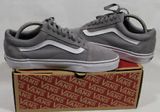 Vans Old Skool Gray Skateboarding Shoes Classic Canvas/Suede Sz M 8 / W 9.5