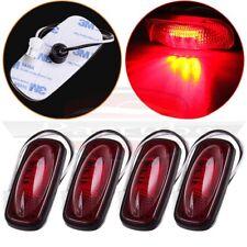 Fit 03-09 Dodge RAM 3500 4pc Red LED Side Fender Marker Dually Bed Light Rear