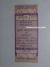Jean-Luc Ponty Unused 1977 Concert Ticket Miami Gusman Mahavishnu Zappa Rare