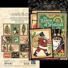 Graphic 45 CHRISTMAS TIME Ephemera & Journaling Cards x32