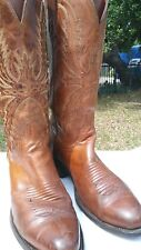 Mens Lucchese 1883'S Size 8 D Brown Cowboy Boots