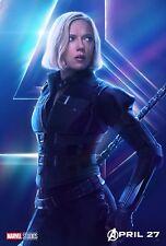Poster A3 Vengadores Avengers Infinity War Gemas Viuda Negra Black Widow