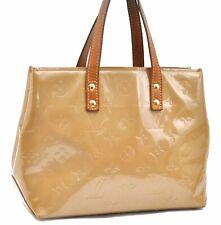 Authentic Louis Vuitton Vernis Reade PM Hand Bag Beige LV A4807