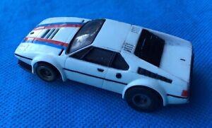 Vintage AURORA AFX Slot Car, BMW M1 Race car  slot car. 1:64th scale.
