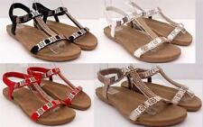 Flat (0 to 1/2 in.) Ankle Strap Elastic Synthetic Sandals & Flip Flops for Women
