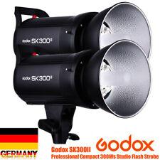 2Stück Godox SK300II 300w 2.4G Fotostudio Studioblitz Blitzgerät X-System Y3M5