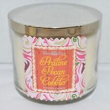 2 Praline Pecan Cobbler Scented Candles Bath & Body Works 3 Wick Large Glass USA