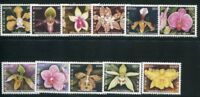 LAOS STAMP 2003 ORCHIDS FLOWERS 11v. MNH