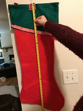 Red Green Giant Christmas Stocking NWT