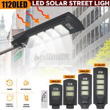 900W 560LED Solar Street Light PIR Induction Sensor Outdoor Garden Lamp+Remote