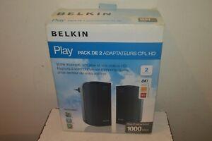 Pack 2 Adapter CPL HD Belkin Play Dlan 1000