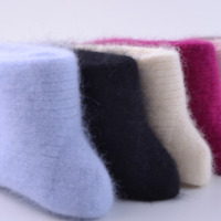 3Pair Womens 100% Wool Cashmere Socks Winter thick Soft & Warm & Pure Socks