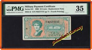 JC&C - S852-4r MPC Series 541 10 Cents - Replacement Note - Very Fine 35 by PMG