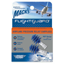 Mack's Flightguard Airplane Earplugs for Travel, Pressure Relief (1 pair)