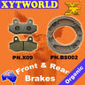 FRONT REAR Brake Pads Shoes for Honda MBX 50 SD/SF 1983-1985
