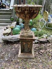 Vintage Antique Late 1800 Large Victorian Cast Iron Urn Garden Planter Pedestal