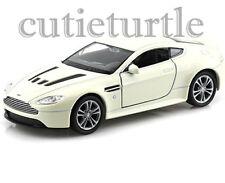 "4.5"" Welly Aston Martin V12 Vantage 1:32 Diecast Toy Car White"