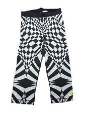 Nike Sport Pro Logo Fitnesshose Damen Caprihose Hose Sporthose S schwarz grau