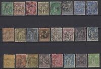 AV142311/ FRANCE – TYPE SAGE – YEARS 1876 - 1900 USED CLASSIC LOT – CV 175 $