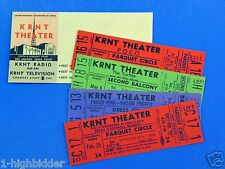1960 MINT Unused KRNT Concert Tickets Poco Frigid Pink Turtles Strawberry Alarm