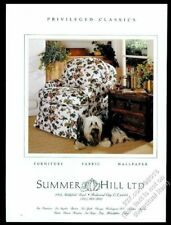 1991 Skye Terrier photo Summer Hill fabrics and furniture vintage print ad