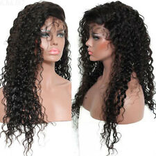 Fashion Brazilian Human Hair Deep Wavy Curly Lace Front Full Wig With Baby Hair
