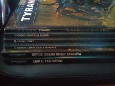 Warhammer 40k Codices JOB LOT (3rd-6th Codex Orks/Chaos/Tyranids/Tau/Imperial)