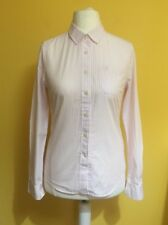 Women's JACK WILLS Pink White Pinstripe 'Classic Fit' Shirt ~ Size UK 8 ~
