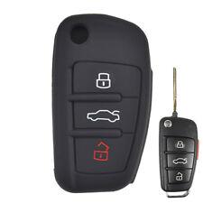 3 Button Silicone Key Cover Case For Audi A1 S1 A3 S3 A4 A6 TT Q3 Q7 Remote Fob