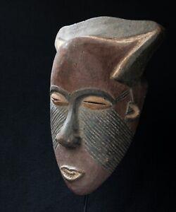 Bakuba Face Mask, Democratic Republic of Congo, Central African Tribal Art.