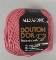 BOUTON D'OR ALEXANDRIE EGYPTIAN COTTON 6 BALLS BOIS DE ROSE (6Z)