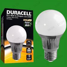 2x 6W à variation Duracell LED givré GLS Globe Allumage Instantané