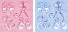 20 CHRISTENING, BABY SHOWER, NEW BABY NAPKINS SERVIETTES PINK/BLUE 3 PLY