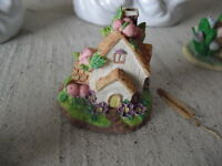 Miniature Resin Enesco House Figurine LOOK