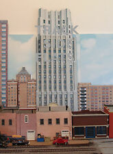 #218 N scale background building flat FIRST NATIONAL TOWER   *FREE SHIPPING*
