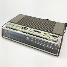 Vintage General Electric GE 7-4646A Electronic Touch Control Alarm Clock Radio
