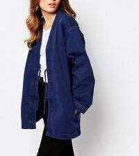 Waven @ TOPSHOP Imma Clean Denim Kimono Jacket Navy Blue - S/M  RRP £65