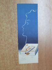 Vecchio segnalibro pubblicitario sigarette STOP EVA d epoca originale vintage di