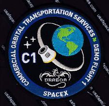 SPACEX DRAGON ORIGINAL - COMMERCIAL ORBITAL TRANSPORTATION SERVICES - C-1 PATCH