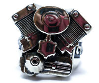 V-Twin Motorcycle Engine Ring, Mens Biker Rocker Punk Ring 925 Sterling Silver