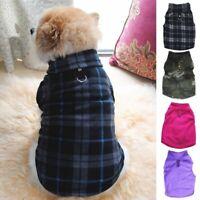Small Pet Dog Fleece Harness Vest Puppy Warmer Sweater Coat Shirt Jacket Apparel